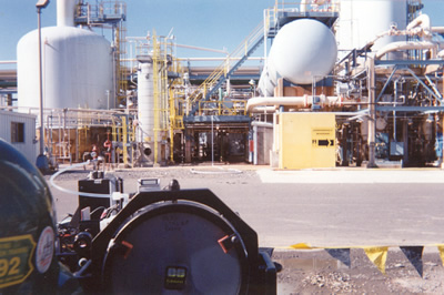 System to monitor HF leaks at oil refineries